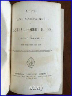 1867 Life and Campaigns of General Robert E. Lee, Confederate Civil War General