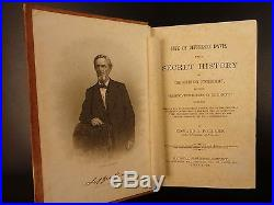 1869 1ed Life of Jefferson Davis Civil War Confederate CSA Secrets Confederacy