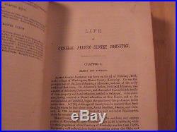 1878 Life Of General Albert Sidney Johnston Confederate CIVIL War Texas Indian