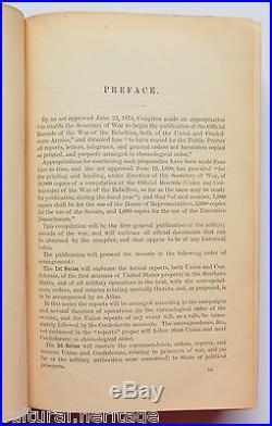 1880-1901 First Edition War Of The Rebellion CIVIL War Union & Confederate