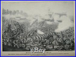 1881 CIVIL War History Pictorial Union Confederate Military Army Navy Generals
