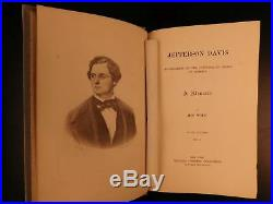 1890 1ed Jefferson Davis Confederate States President Civil War Battles SLAVERY