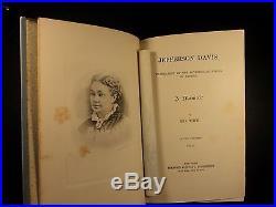 1890 1st Memoir of Jefferson Davis Civil War Confederate CSA Illustrated 2v SET