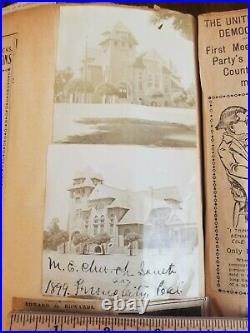 1898 Fresno California Confederate Civil War Veterans Scrapbook Photo Album