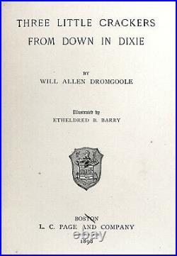 1898 WHITE CRACKERS IN DIXIE Civil War BLACK AMERICANA South Slavery CONFEDERATE