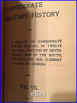 1899 1st Edition CONFEDERATE MILITARY HISTORY VOL I, VOL 7, VOl 12 Civil War