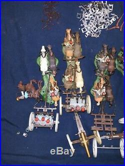 1970's Confederate BRITAINS SWOPPET, American CIVIL WAR GUN TEAM & LIMBER Parts