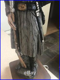1971 Dunning Industries Rare Confederate Soldier Civil War Lamp Wood
