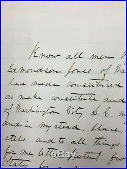 2 Signed William Grumble Jones Items Civil War Confederate General Gettysburg