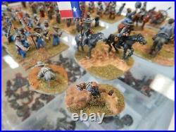 25mm metal Dixon painted American Civil War Confederate soldiers