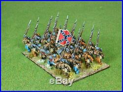 28mm ACW metal CONFEDERATE 17th GEORGIA Pro Painted US Civil War 68308