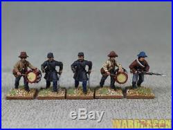 28mm American Civil War WDS painted Confederate infantry l87