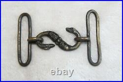 #3169 CIVIL War Confederate Snake Belt Buckle