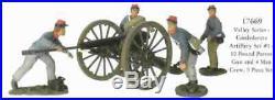 54mm CIVIL WAR Britains CONFEDERATE 10 Pound PARROT ARTILLERY Cannon Crew 17669