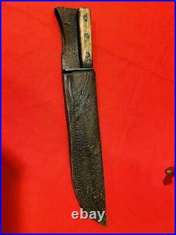 A Good & Super Rare Confederate Bowie Knife Cs Csa With Sheath Us CIVIL War