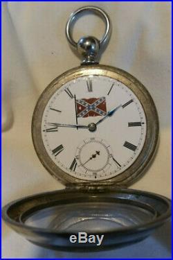 A. W. Co. Broadway 18s 7j Waltham pocket watch 1875. Civil war Confederate watch