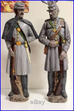 ACW American Civil War Southern Confederate Soldiers 20 Porcelain Statue Figure