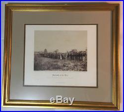 ALEXANDER GARDNER original 1865 CIVIL WAR PHOTOGRAPH Confederate POWs at Fairfax