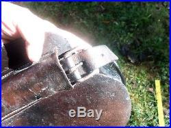 ANTIQUE 17.5 Civil War Era Plantation Saddle Restored Confederate Army Irons