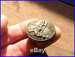 Antique CIVIL War Confederate Officer's Belt Buckle Centre Disc / Virginia Seal