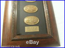 American CIVIL War Confederate Army Framed Replica Buckle Collection