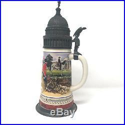 Anheuser Busch Budweiser Civil War Series Robert E Lee Confederate Stein 1992