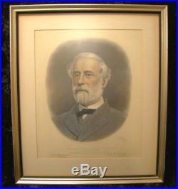 Antique AB Walter Engraving Civil War Confederate General Robert E Lee 1870