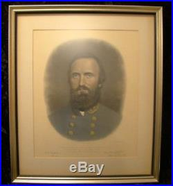 Antique AB Walter Engraving Civil War Confederate General Stonewall Jackson 1870