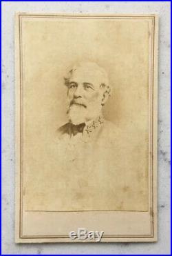 Antique CDV Photograph Confederate General Robert E. Lee CIVIL War Rockwell