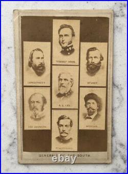 Antique CDV Photograph Csa Confederate Generals Of The South CIVIL War Lee