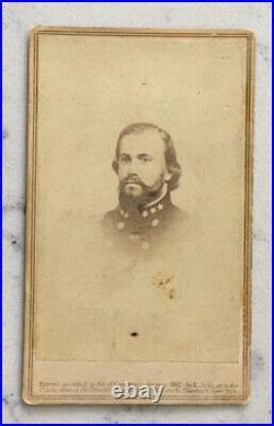 Antique CIVIL War CDV Photograph Confederate General John Hunt Morgan Anthony