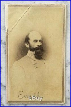 Antique CIVIL War CDV Photograph Confederate General Richard Ewell Vannerson Csa