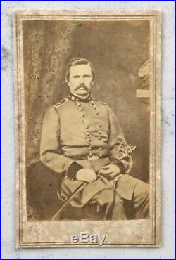 Antique CIVIL War CDV Photograph Confederate General Simon Bolivar Buckner Csa