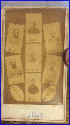 Antique CIVIL War CDV Photograph Confederate Generals N B Forrest Csa