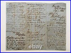 Antique CIVIL War Confederate Document Petersburg Va Business Legal Law Letter