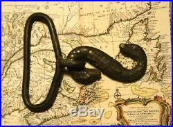 Antique CIVIL War Cs / Confederate Army Double Headed Snake Belt Buckle Relic