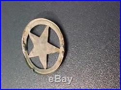 Antique Civil War Confederate Texas Brass 5 Pt Star Dug Tunnel Hill GA Georgia