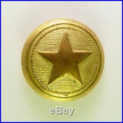 Antique Civil War Confederate Texas Star Cuff Button Scovill Waterbury Undug