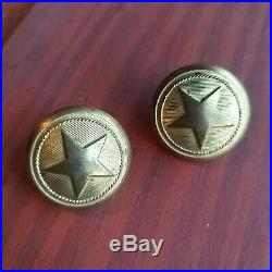 Antique Civil War Confederate Texas Star Cuff Button Set Scovill Waterbury Undug