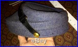 Antique Civil War Confederate Wool Kepi Cap Hat 1863 CSA C. S. A. Gettysburg