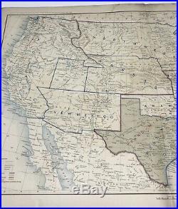 Antique Civil War Map Dec 31, 1864 USA Union & Confederate Boundaries