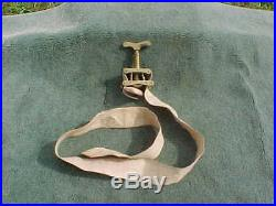 Antique Civil War Medical Tourniquet Vintage Brass & Cloth Strap Confederate
