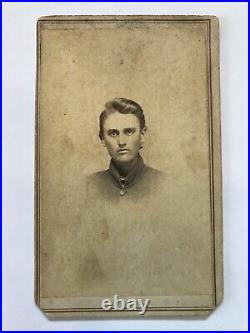 Antique Civil War Soldier Nashville Tennessee Possibly Confederate Cdv Photo