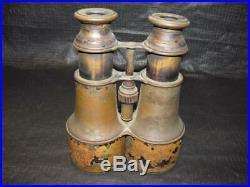 Antique MID 1800's CIVIL War Csa Confederate Field Glasses Binoculars