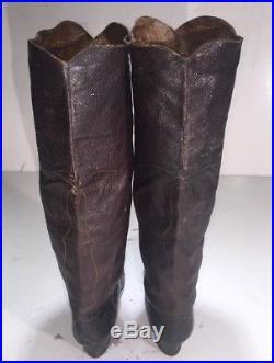 Antique Original Civil War Soldier Leather Boots Confederate Officer Cowboy