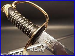 Antique Style Civil War Field & Staff Officers Confederate CS Sword Silver Scabb