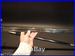 Antique Style W. J. McElroy Civil War Officers Confederate CS Sword