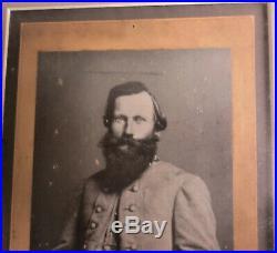Archival framed cabinet card & signature Confederate Civil War Gen. JEB Stuart