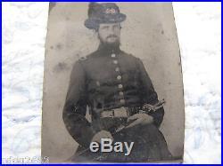 Armed Rare Confederate CIVIL War Engineer, West Point Grad, Virginia Buckle