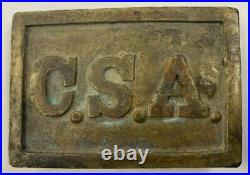 Atlanta Arsenal Rectangular Confederate Belt Plate Civil War Inspection Stamp